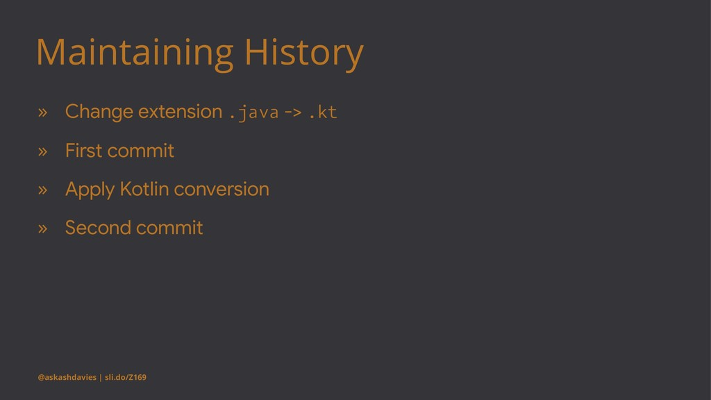 Maintaining History » Change extension .java ->...