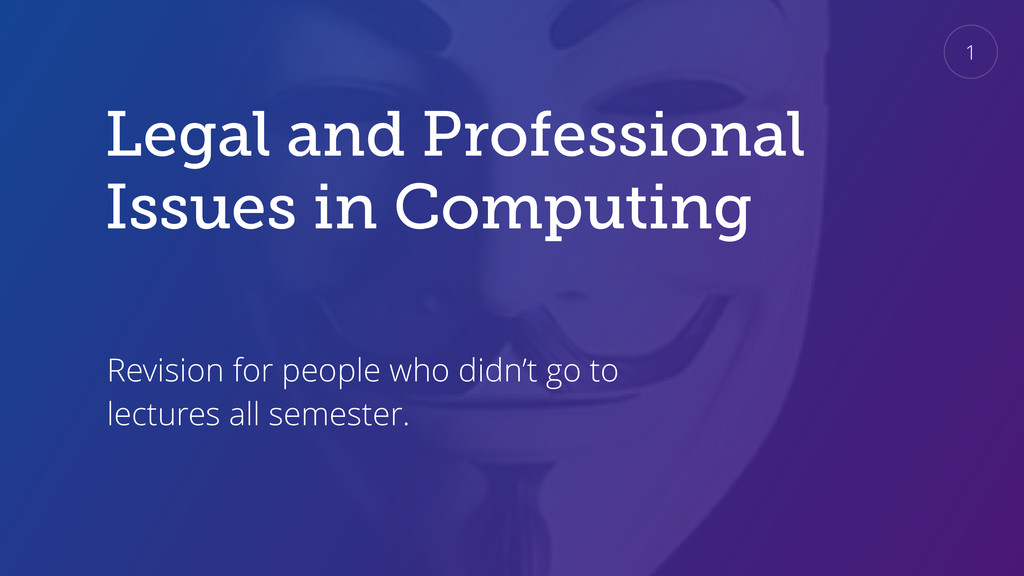Legal and Professional Issues in Computing Revi...