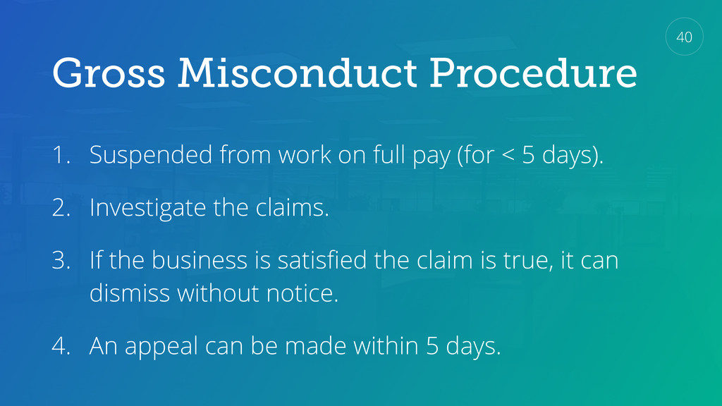 Gross Misconduct Procedure 1. Suspended from wo...