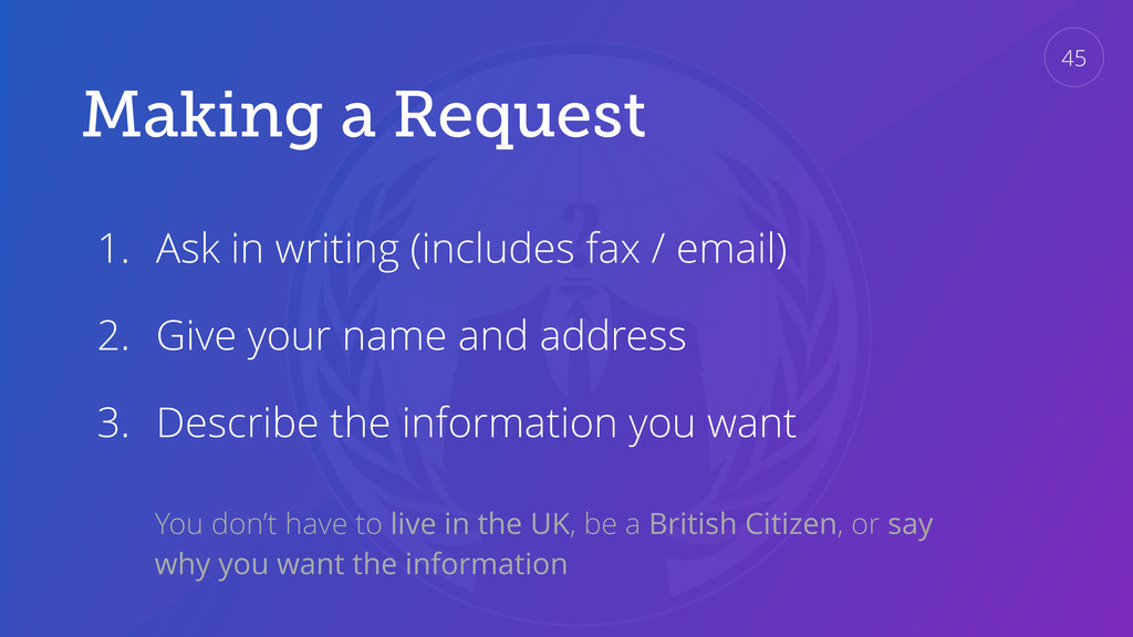 Making a Request 1. Ask in writing (includes fa...