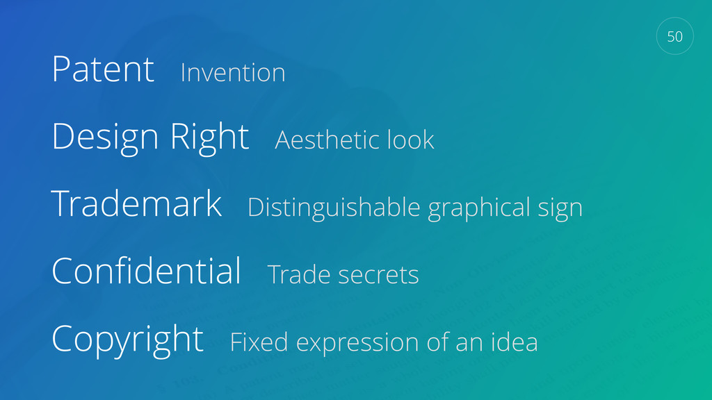 Patent Invention Design Right Aesthetic look Tr...