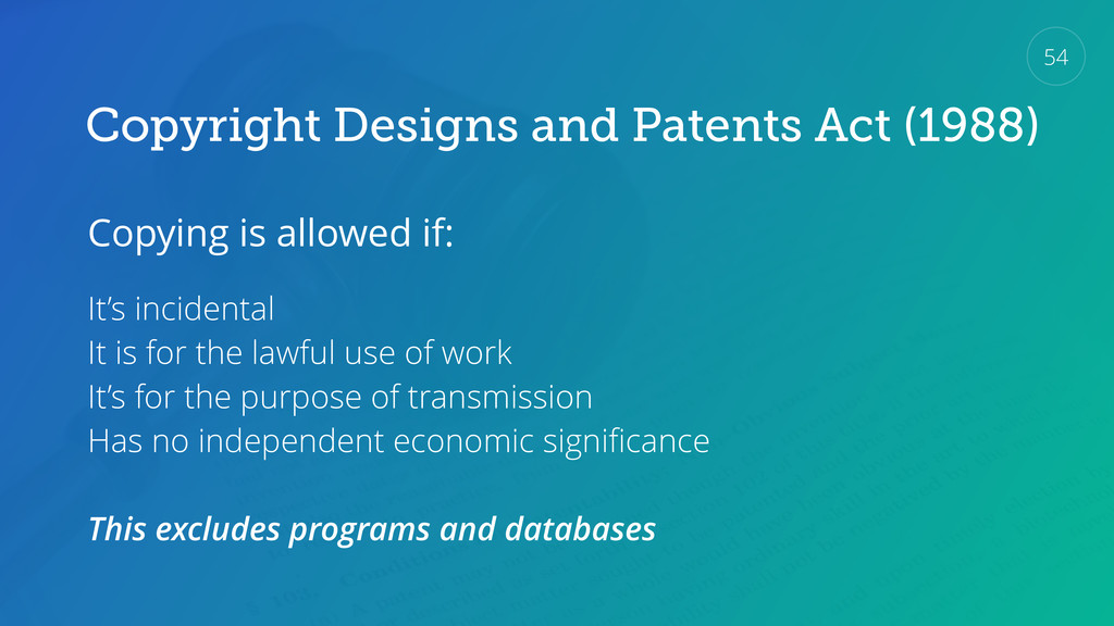 Copyright Designs and Patents Act (1988) Copyin...
