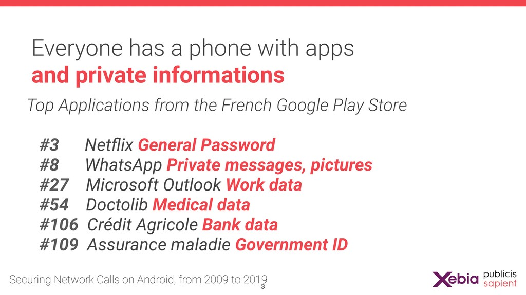 Everyone has a phone with apps and private info...