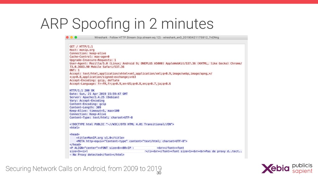 ARP Spoofing in 2 minutes !30