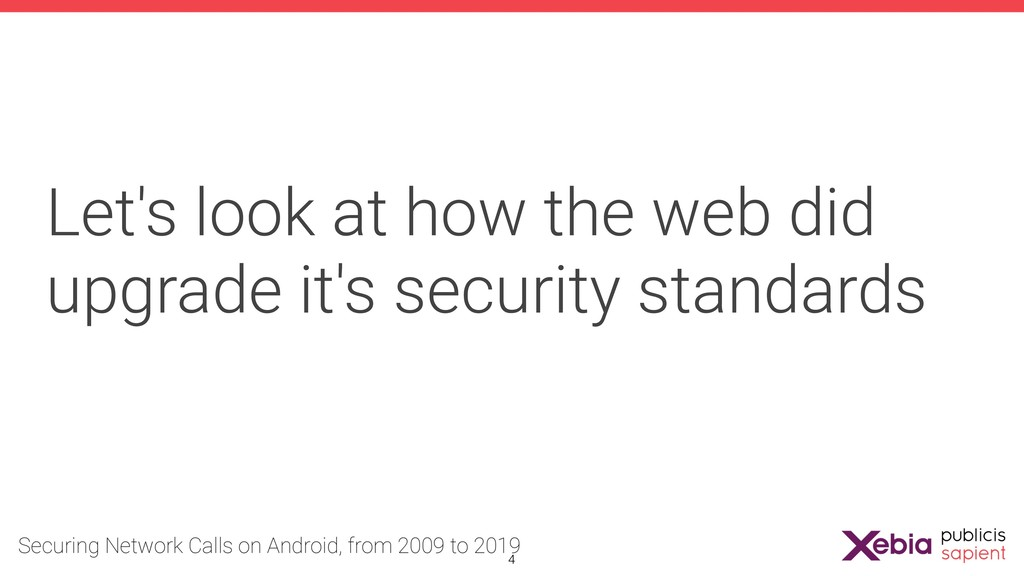 Let's look at how the web did upgrade it's secu...