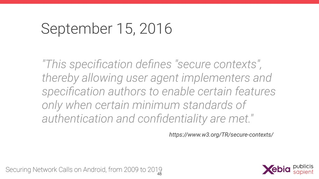 """September 15, 2016 """"This specification defines """"s..."""