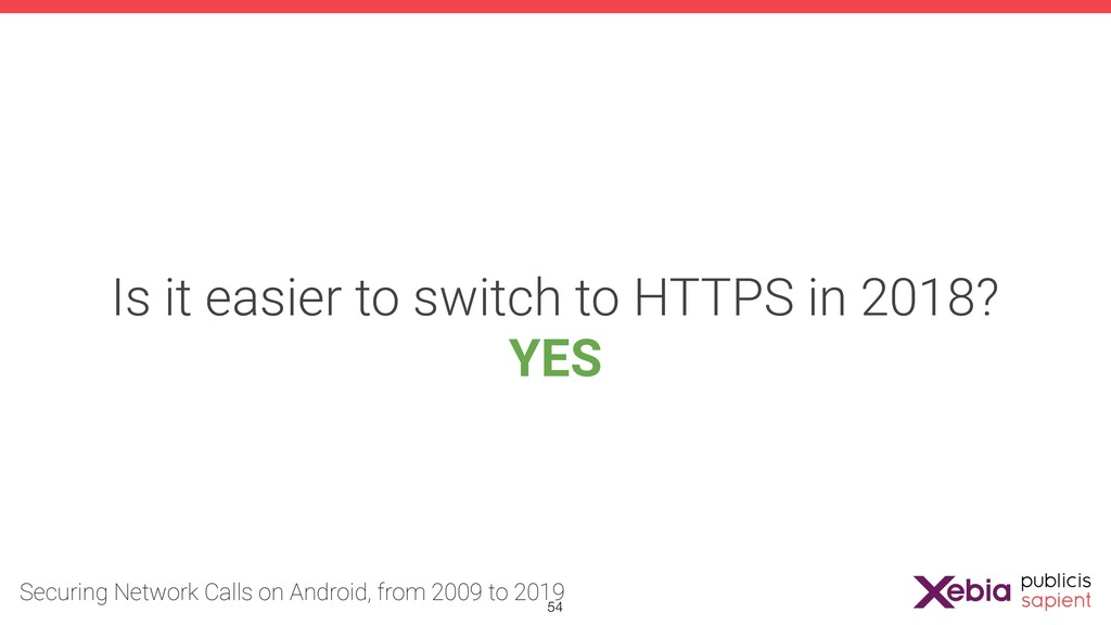Is it easier to switch to HTTPS in 2018? YES !54