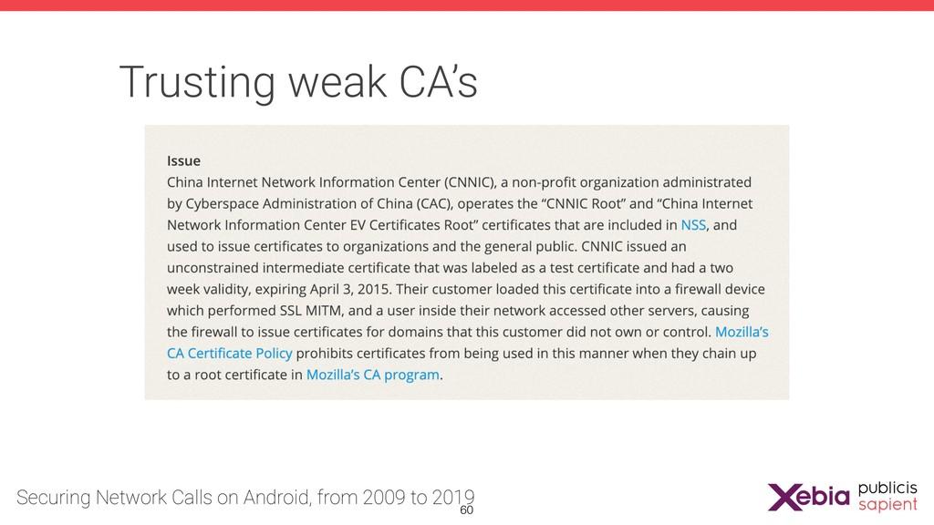Trusting weak CA's !60