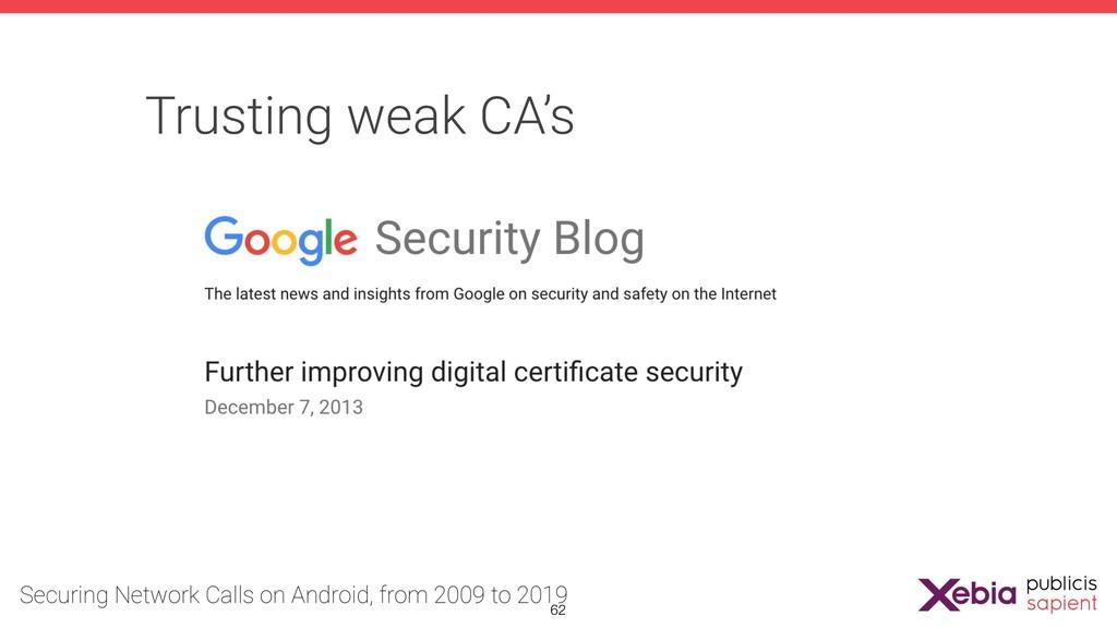 Trusting weak CA's !62