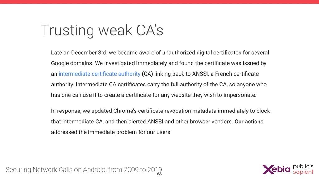 Trusting weak CA's !63