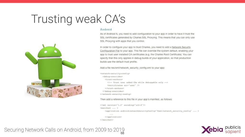 Trusting weak CA's !68
