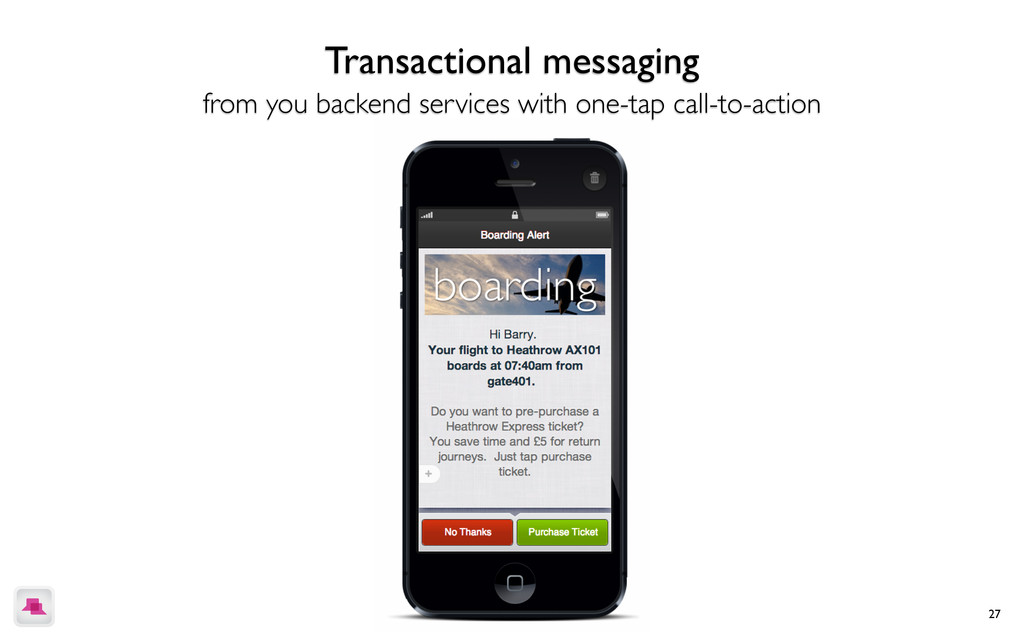 27 Simple rich messaging that users can interac...