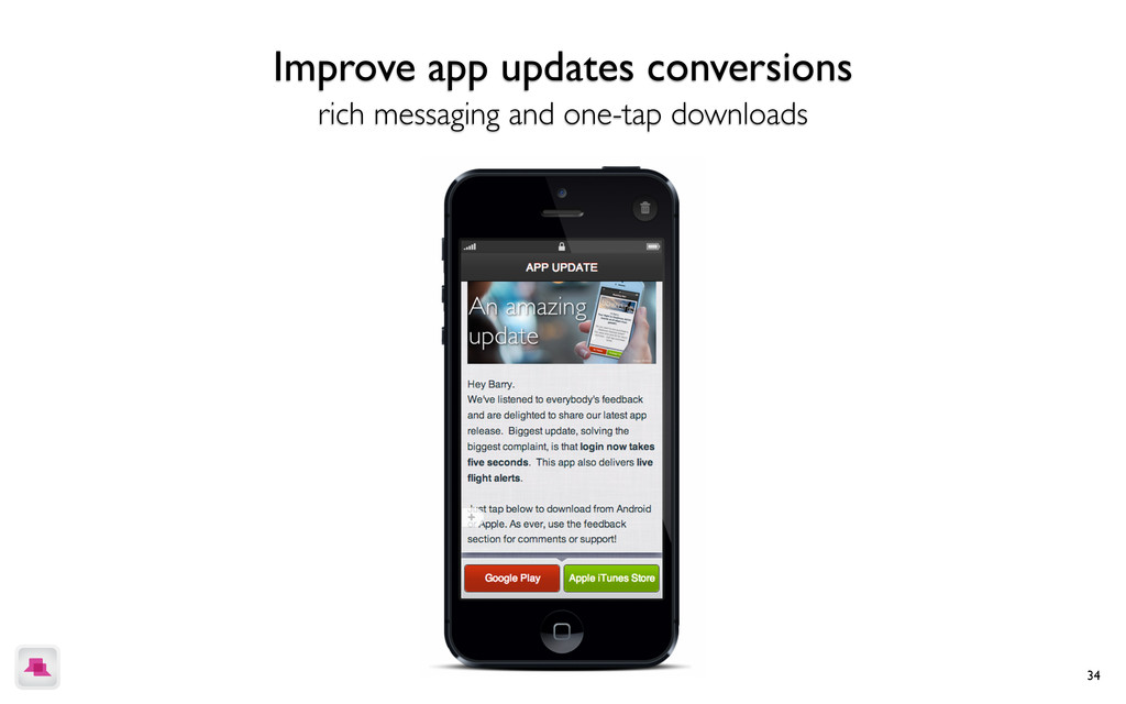 34 Drive in-app purchases more interactive cont...