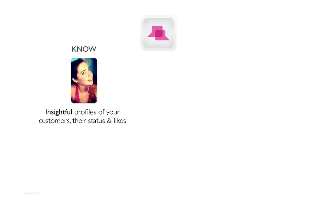 converser.io KNOW Insightful profiles of your cu...