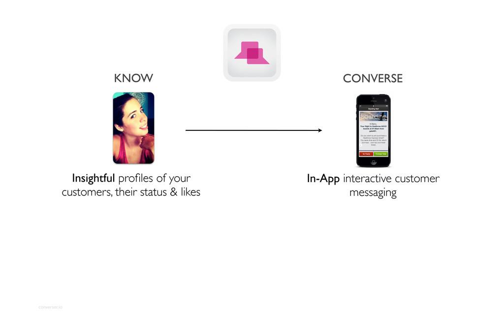 converser.io CONVERSE In-App interactive custom...