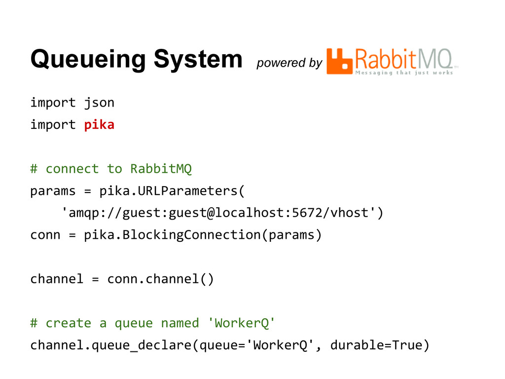 Queueing System powered by import json import p...