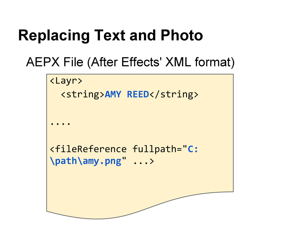 Replacing Text and Photo AEPX File (After Effec...