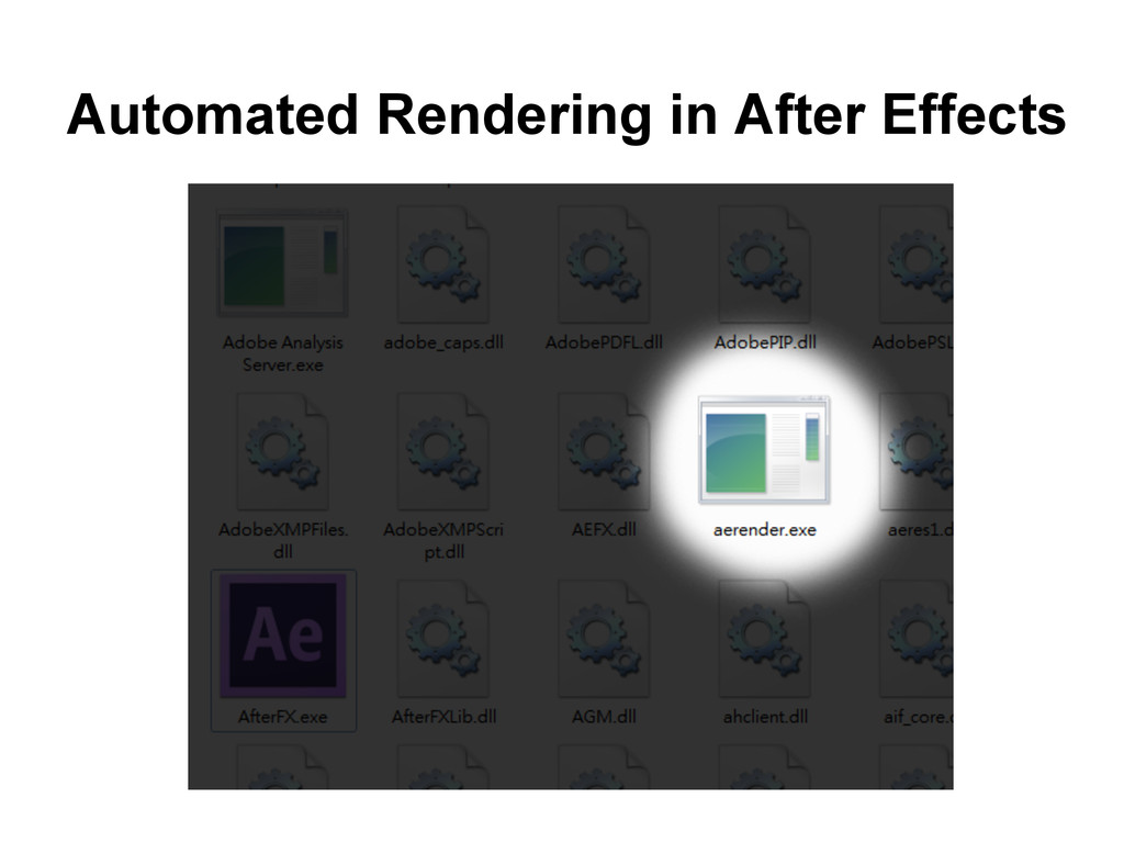 Automated Rendering in After Effects