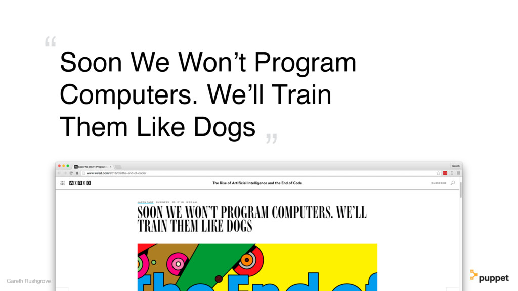 Soon We Won't Program Computers. We'll Train Th...