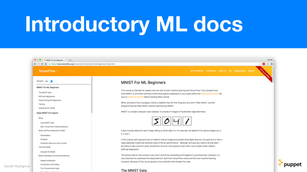 Gareth Rushgrove Introductory ML docs