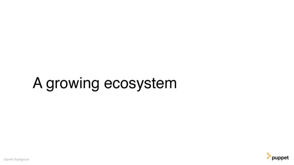 A growing ecosystem Gareth Rushgrove