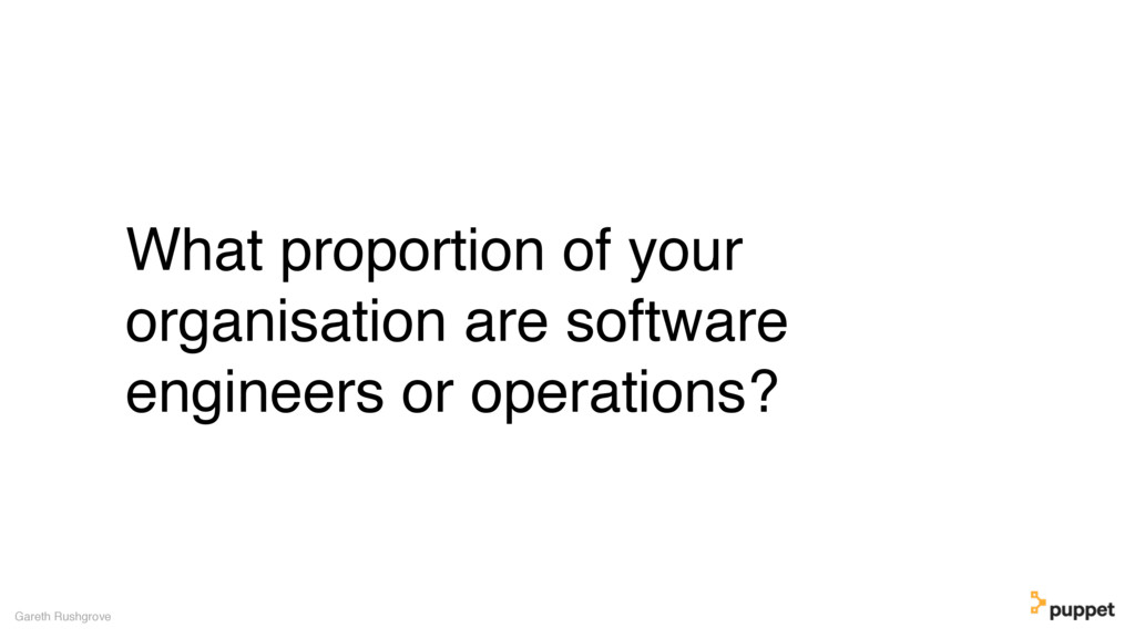 What proportion of your organisation are softwa...