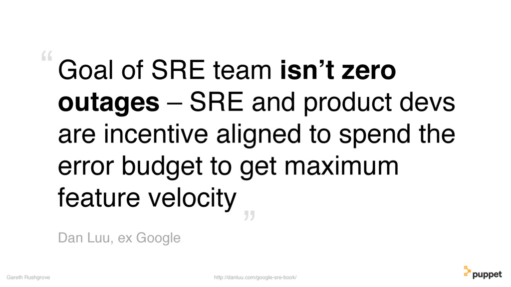 Goal of SRE team isn't zero outages – SRE and p...
