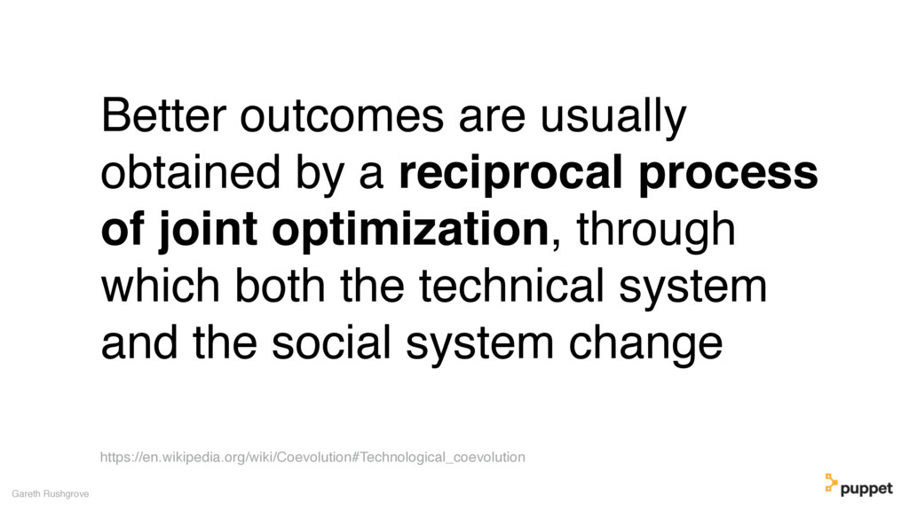 (without introducing more risk) Better outcomes...