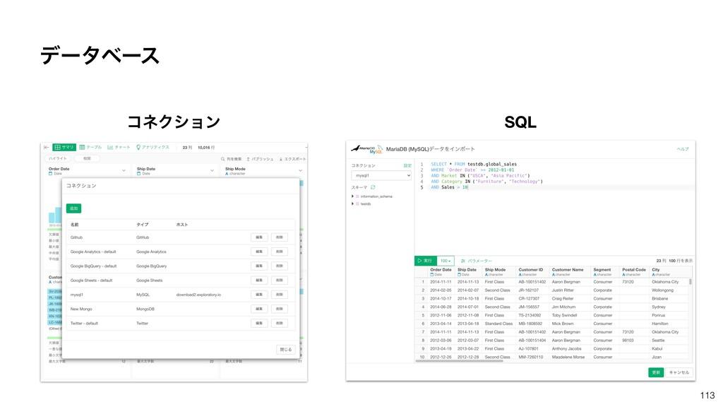 113 ίωΫγϣϯ SQL σʔλϕʔε