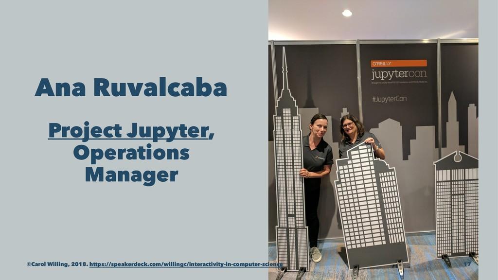 Ana Ruvalcaba Project Jupyter, Operations Manag...