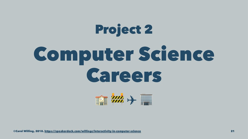 """Project 2 Computer Science Careers ! """" ✈ ©Carol..."""