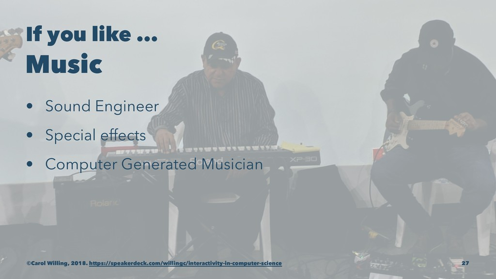 If you like ... Music • Sound Engineer • Specia...