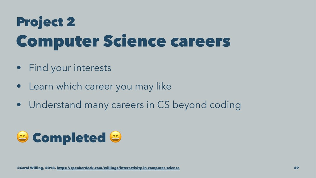 Project 2 Computer Science careers • Find your ...