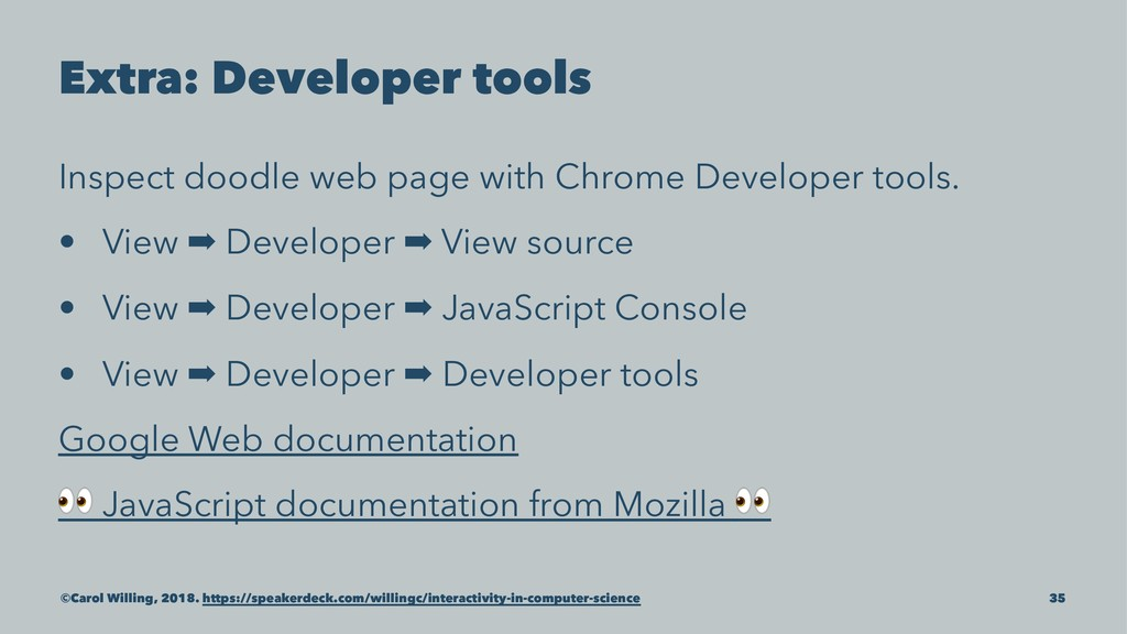 Extra: Developer tools Inspect doodle web page ...