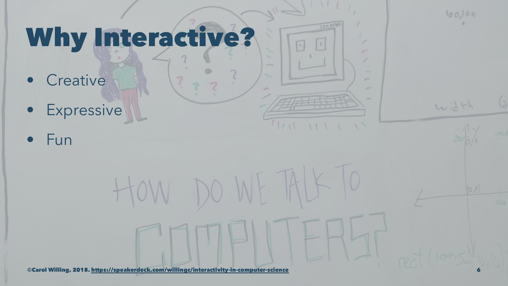 Why Interactive? • Creative • Expressive • Fun ...