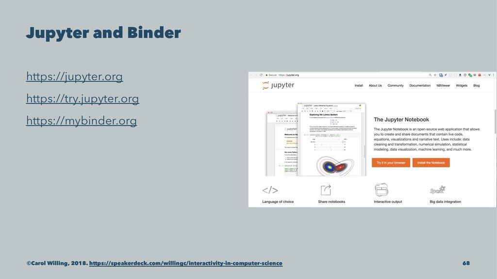 Jupyter and Binder https://jupyter.org https://...