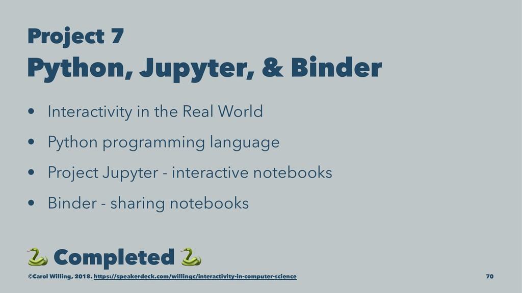 Project 7 Python, Jupyter, & Binder • Interacti...
