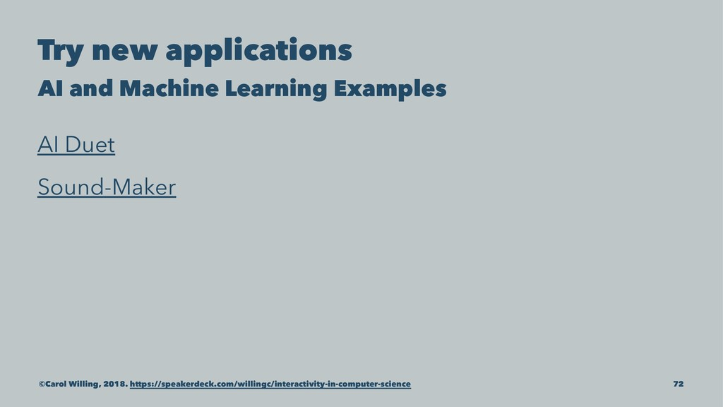 Try new applications AI and Machine Learning Ex...
