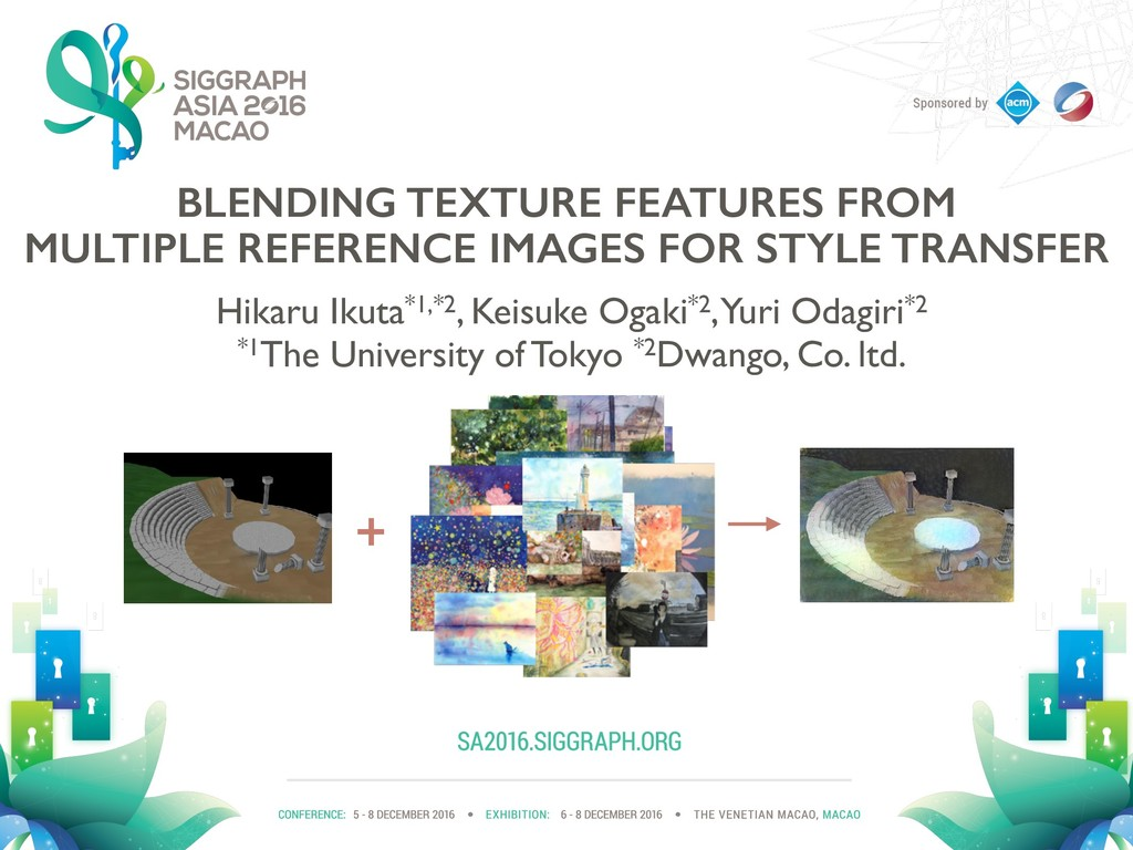BLENDING TEXTURE FEATURES FROM MULTIPLE REFEREN...