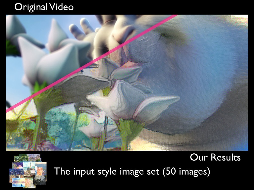 Original Video Our Results The input style imag...