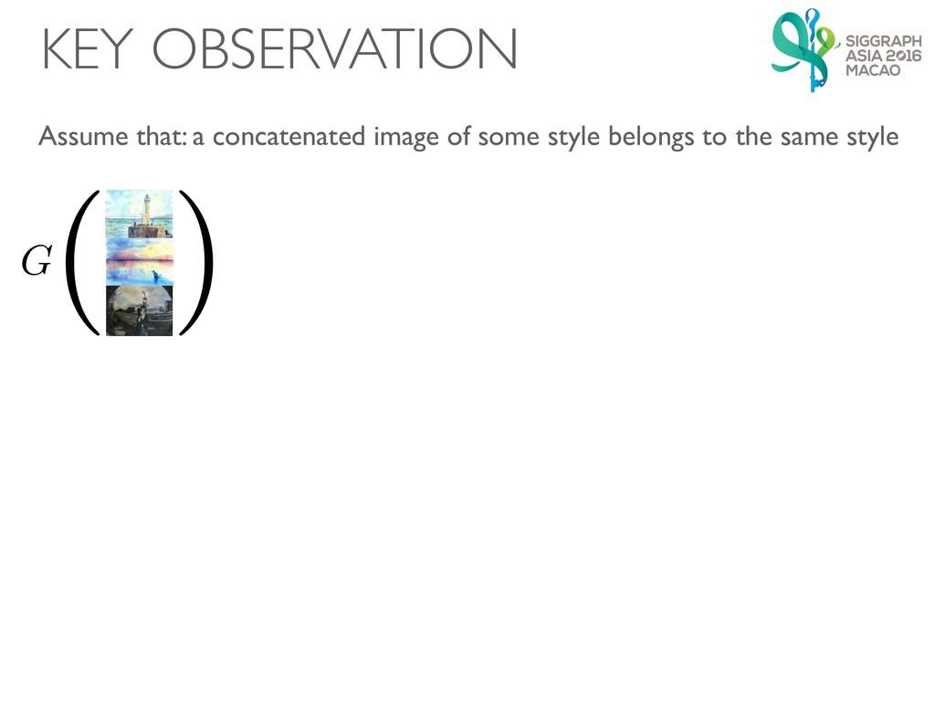 KEY OBSERVATION G ( ) G ( ) ( ) Assume that: a ...