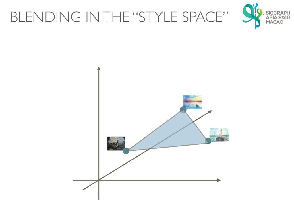 """㻌 㲍 㻌 㲍 㻌 㲍 BLENDING IN THE """"STYLE SPACE"""""""
