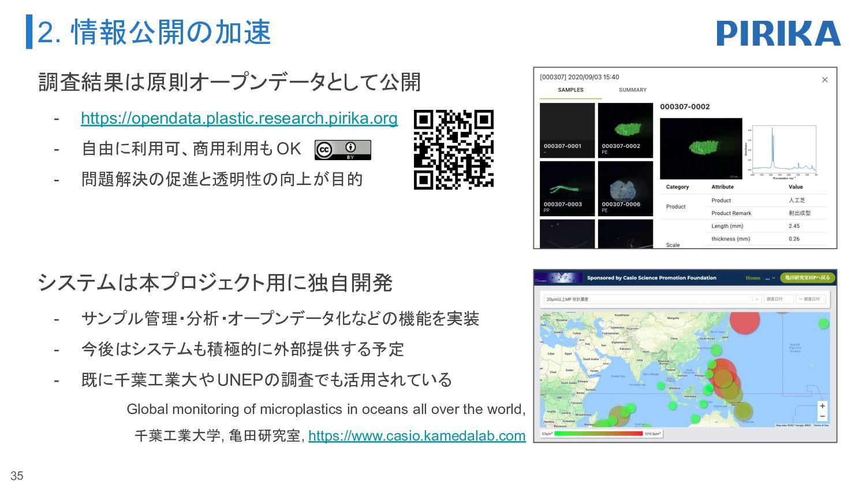3. プラスチックの流出源を探る研究 2021年度も日本財団 海と日本プロジェクトと連携。 ま...