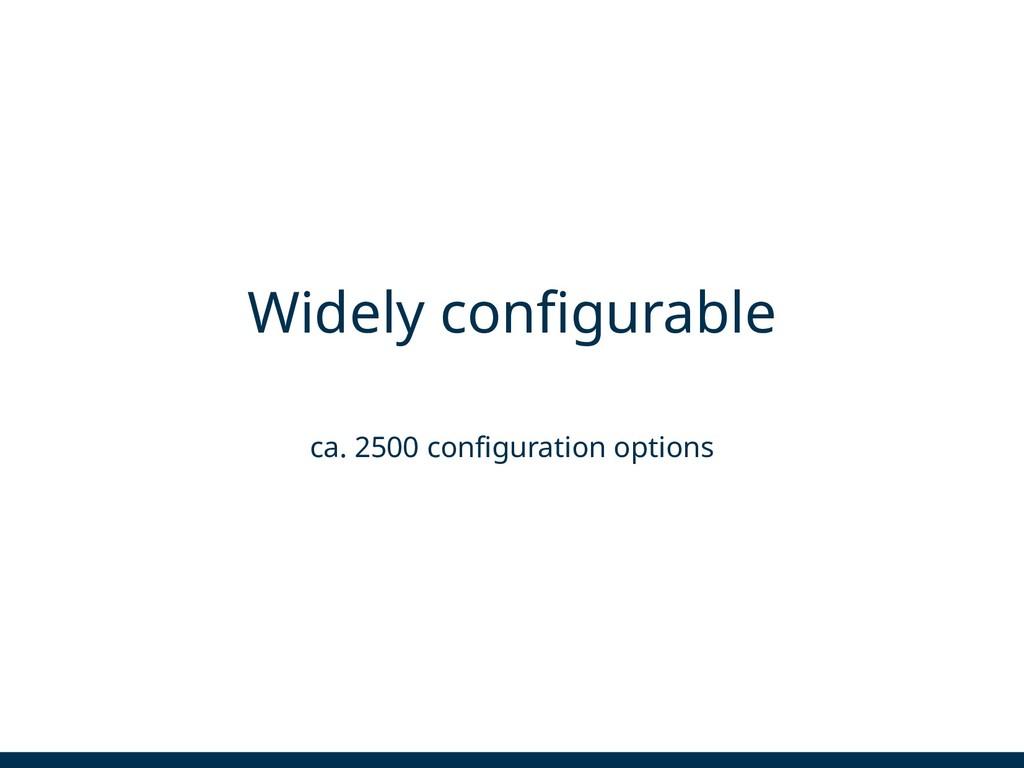 Widely configurable ca. 2500 configuration opti...