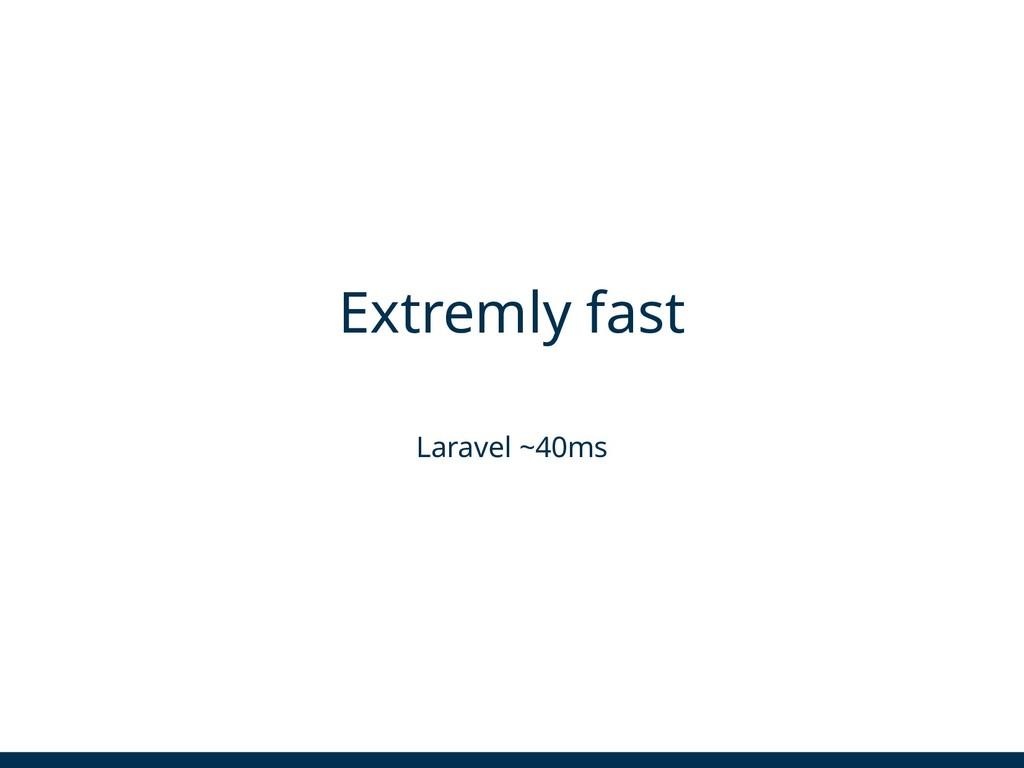 Extremly fast Laravel ~40ms