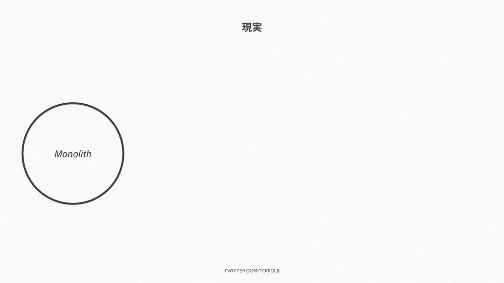 twitter.com/toricls 現実 Monolith