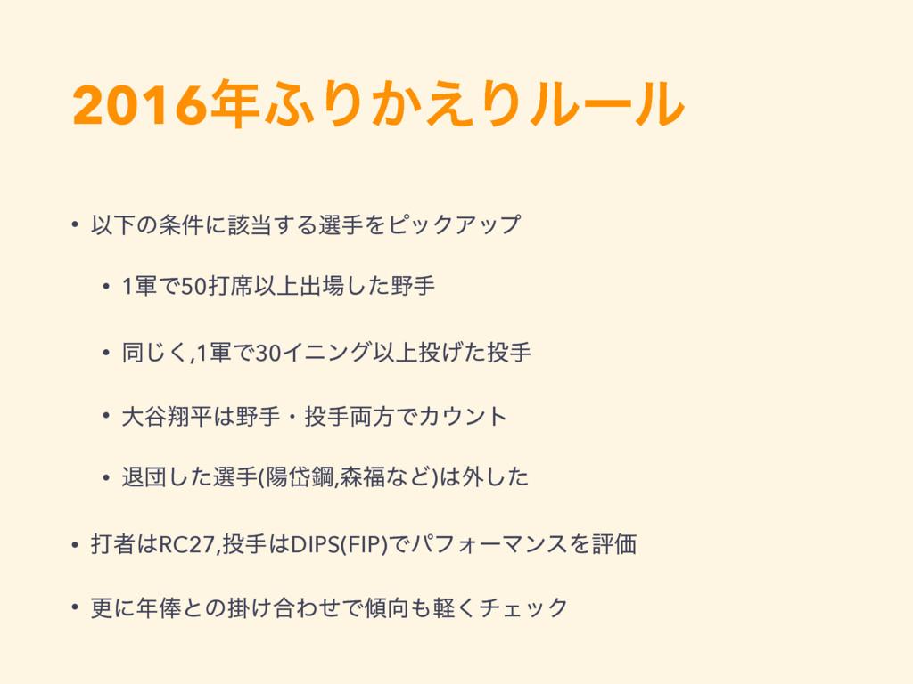 2016;Γ͔͑Γϧʔϧ • ҎԼͷ݅ʹ֘͢ΔબखΛϐοΫΞοϓ • 1܉Ͱ50ଧ੮Ҏ্...