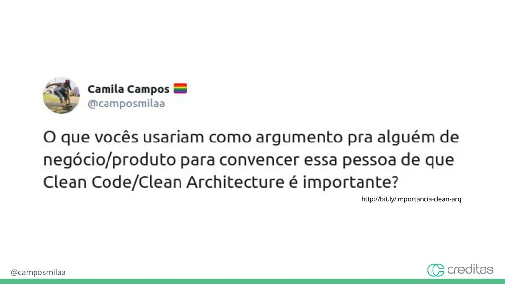 @camposmilaa http://bit.ly/importancia-clean-arq