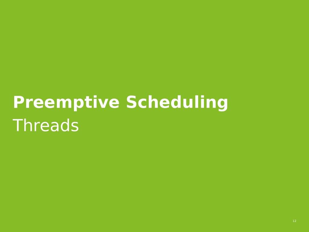 12 Preemptive Scheduling Threads