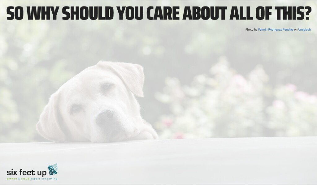 SO WHY SHOULD YOU CARE ABOUT ALL OF THIS? Photo...